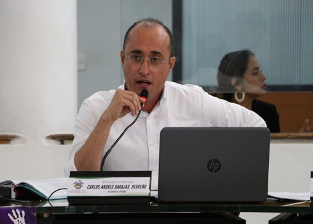 373173_Carlos Barajas, concejal de Bucaramanga / Foto: Concejo