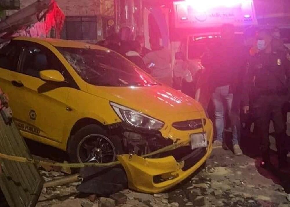 Accidente de tránsito en Fontibón, occidente de Bogotá