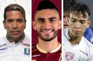 Dayro Moreno, Guillermo Celis y Ricardo Márquez