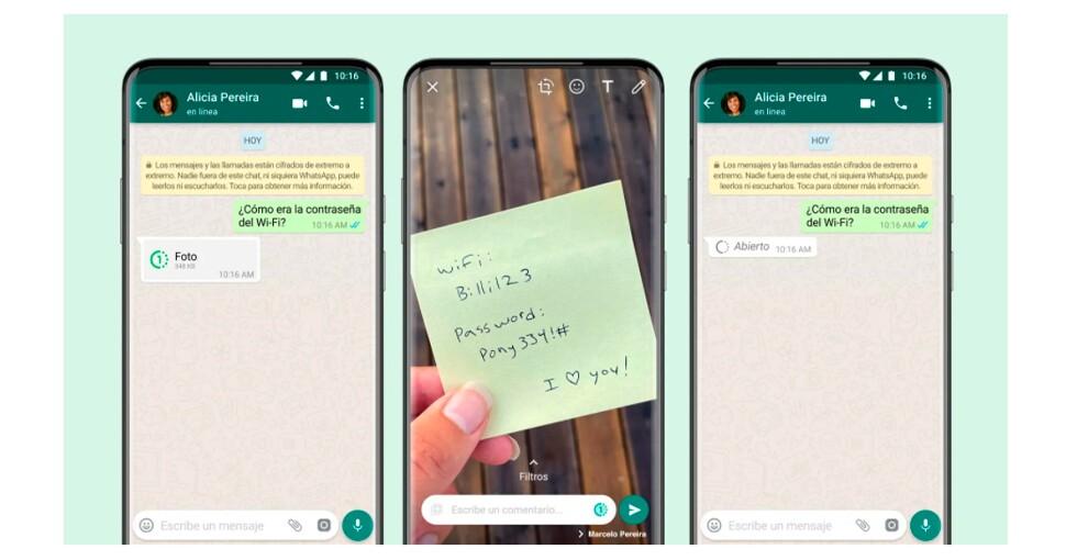 WhatsApp ya permite enviar fotos y videos que sólo se pueden ver una vez.jpg