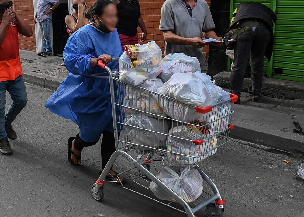 371859_Donaciones de alimentos // Foto: AFP