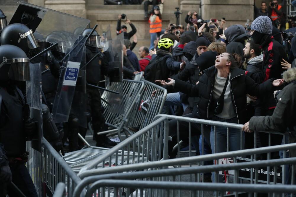 322888_Protestas en Cataluña - AFP