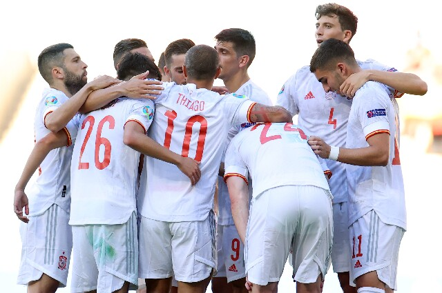 España contra Eslovaquia, en la Eurocopa