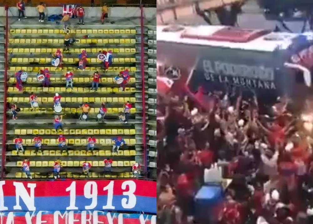 Final de la Copa Colombiapaz en la tribuna, caos a las afueras.jpeg