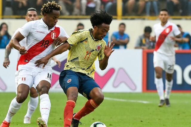 Cuadrado Perú vs Colombia