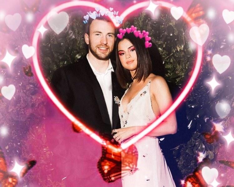 Selena y Chris