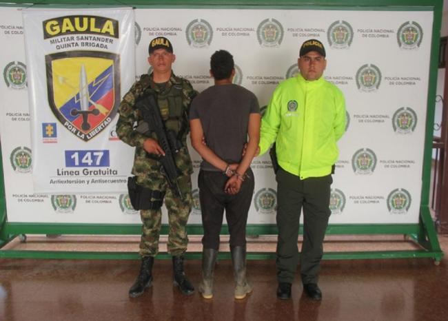 330347_BLU Radio. Autoridades capturaron a alias 'El ovejo'/ foto: Policía.