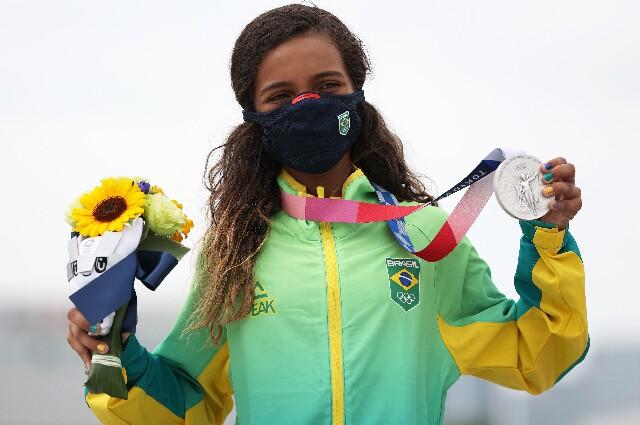 Rayssa Leal, en los Juegos Olímpicos de Tokio