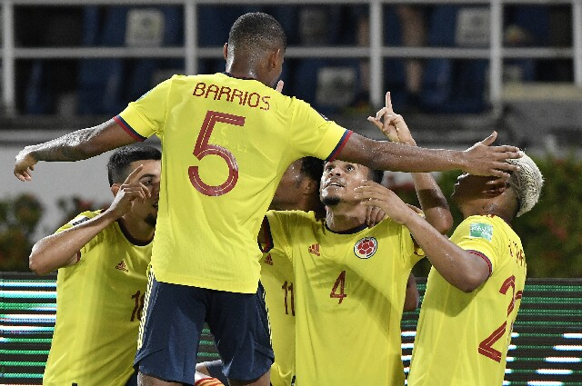 Selección Colombia, en el estadio Metropolitano Roberto Meléndez