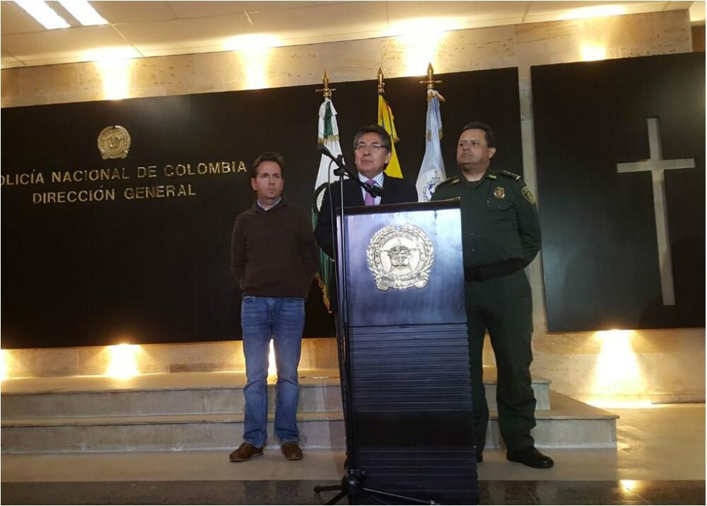 286572_BLU Radio. El director de la Policía Nacional y el fiscal Néstor Humberto Martínez señalaron que los responsables serían miembros del MRP - Foto: Policía Nacional