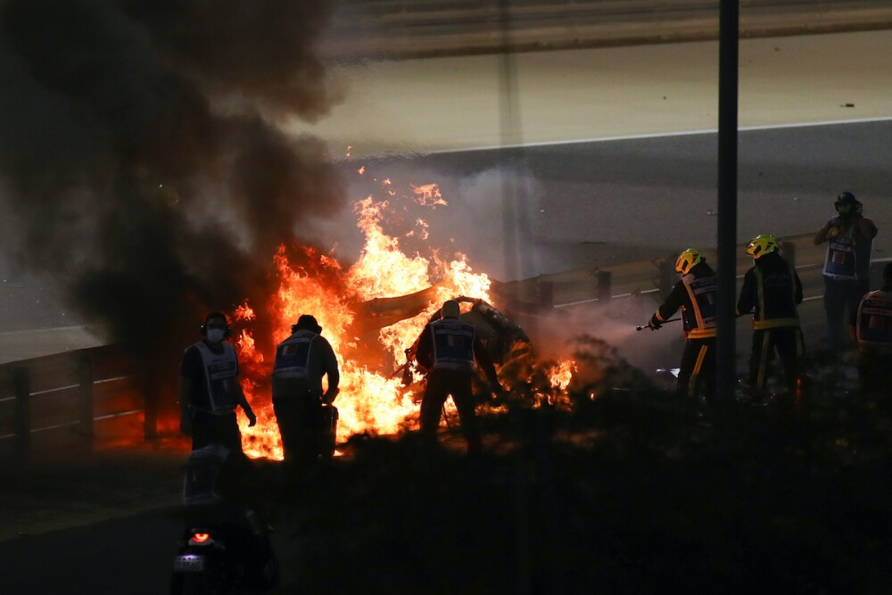 Accidente Romain Grosjean / AFP