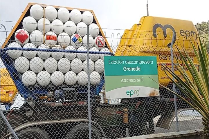 Estación descompresora de gas natural en Granada, Antioquia