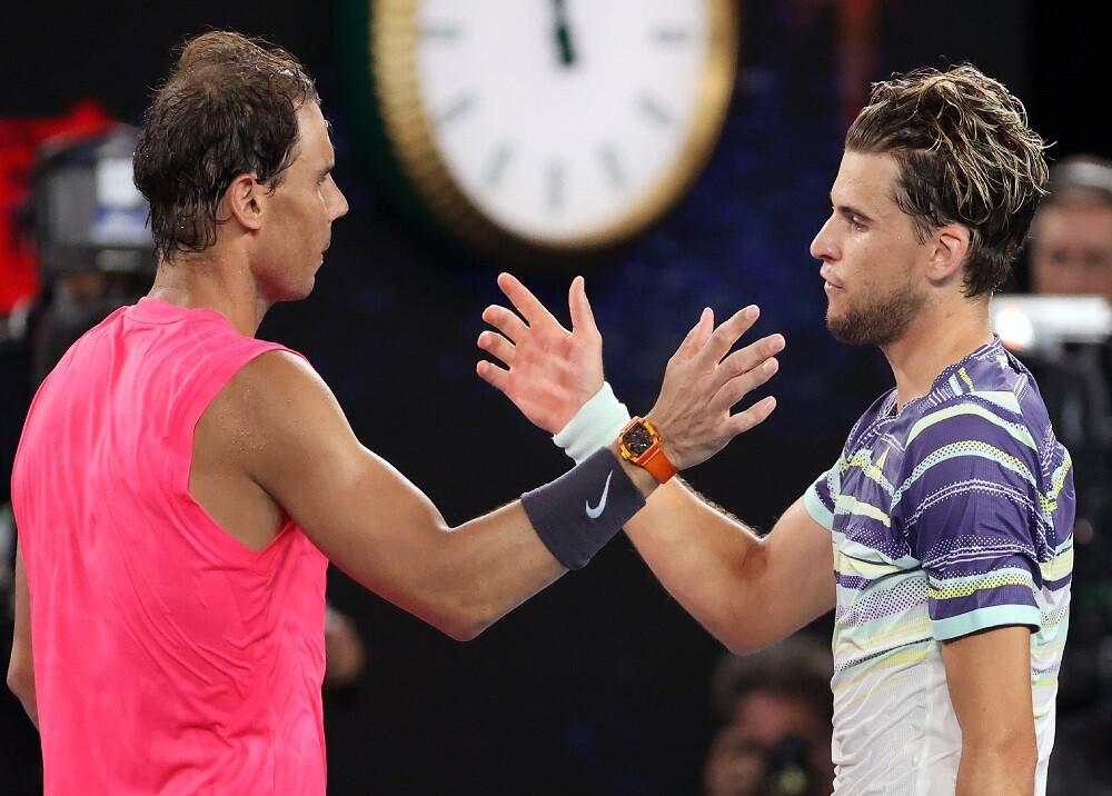 353917_BLU Radio. Nadal y Thiem / Foto: AFP