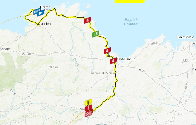 Así será la etapa 2 del Tour de Francia 2021.