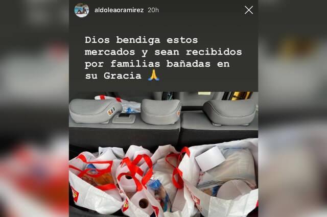 333804_futbolistas colombianos entregaron mercados a familias vulnerables, en Colombia.
