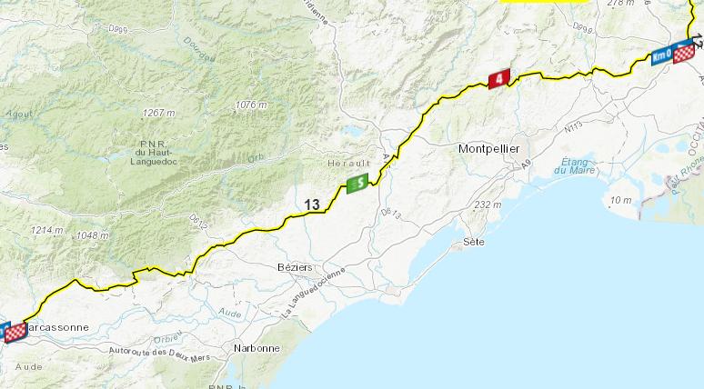 Así será la etapa 13 del Tour de Francia.