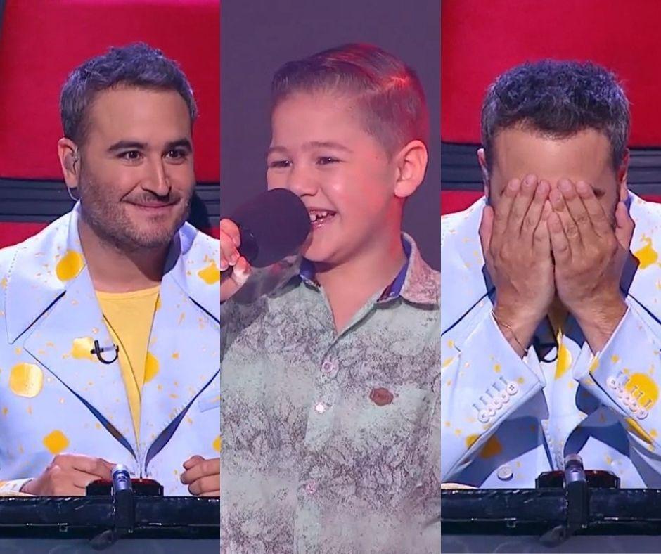 Niño sorprende a Jesús Navarro en La Voz Kids.