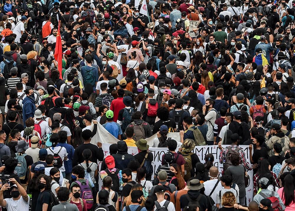 Protesta en Colombia // Foto: AFP