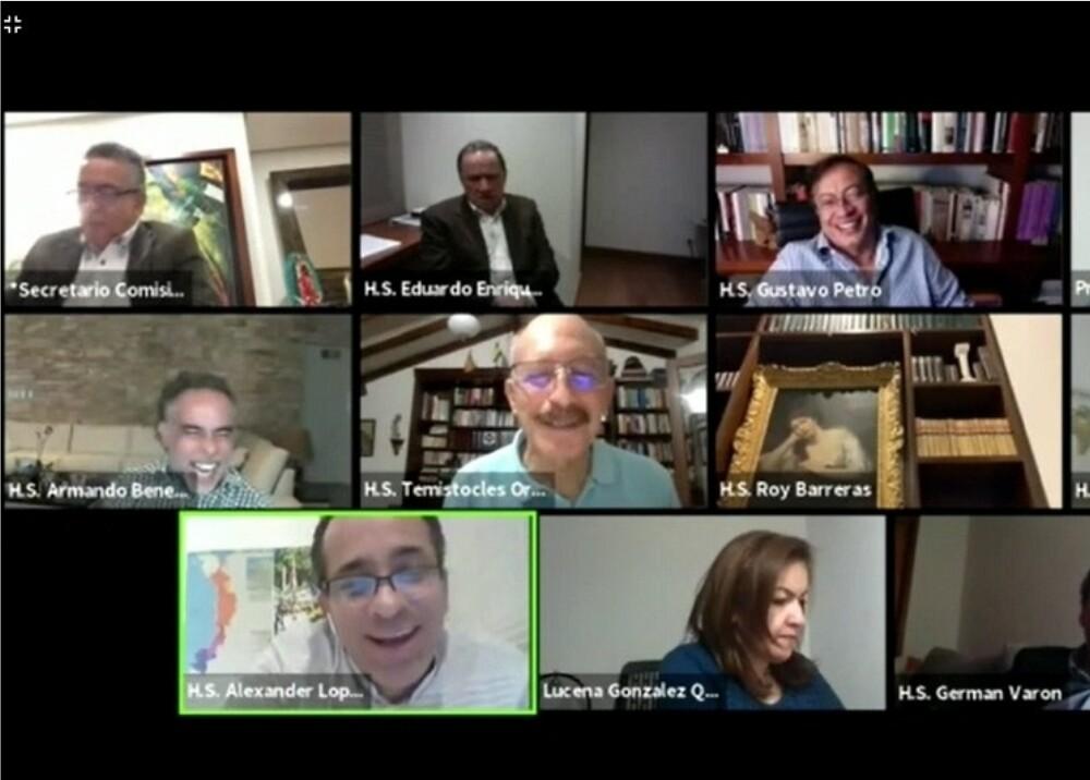 372801_Sesión virtual del Congreso // Foto: Captura de video