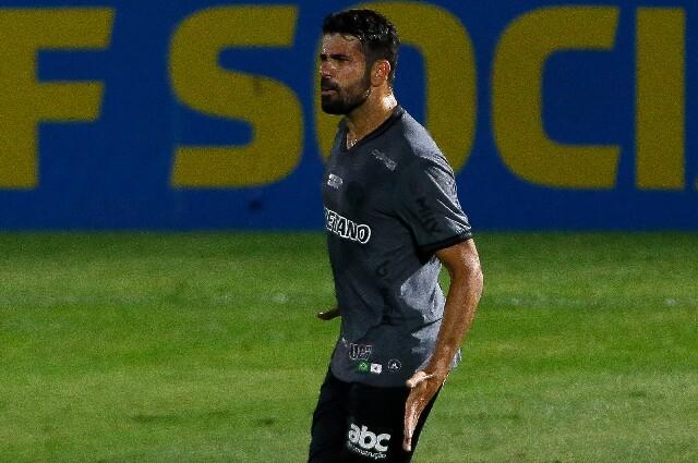 Celebración de Diego Costa, tras su gol con Atlético Mineiro