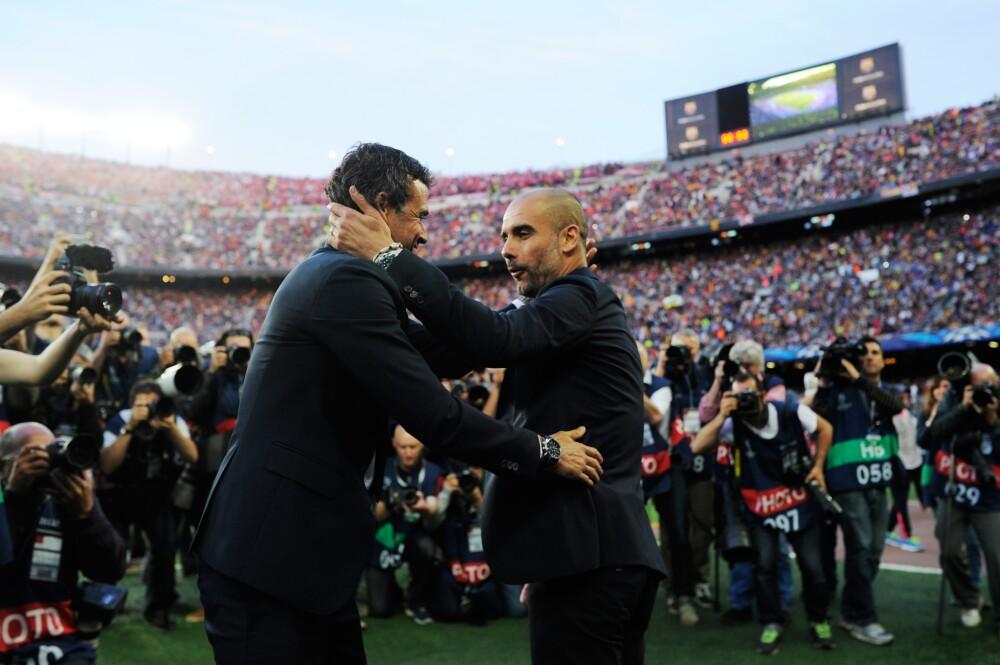 Luis Enrique y Guardiola