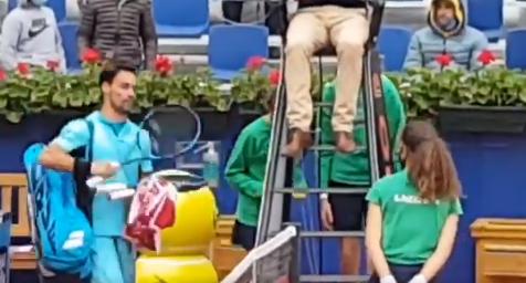 Fabio Fognini fue expulsado del ATP 500 de Barcelona.