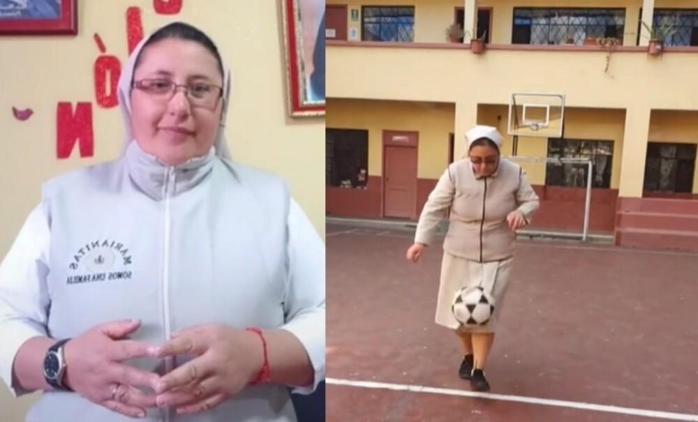 Hermana se vuelve viral por su increíble talento para jugar fútbol.