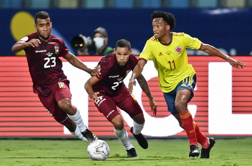 Selección Colombia Venezuela Foto AFP.