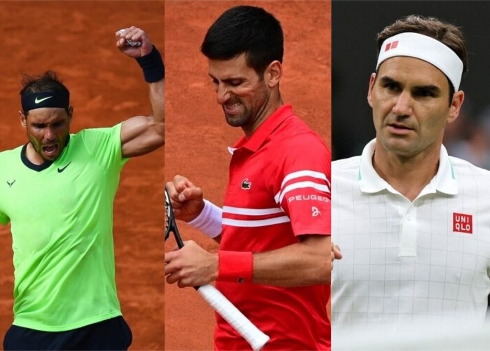 Nadal Djokovic y Federer Foto AFP.jpg