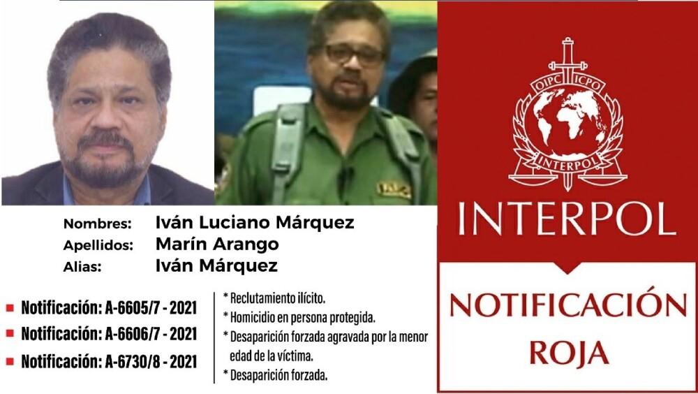 Circular roja contra 'Iván Márquez'