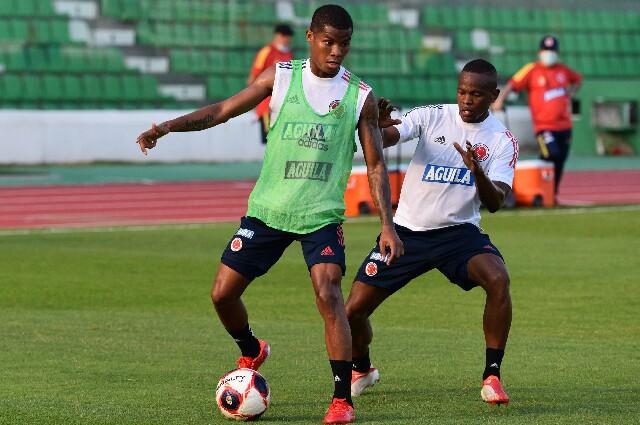 Wilmar Barrios, en el entrenamiento de la Selección Colombia