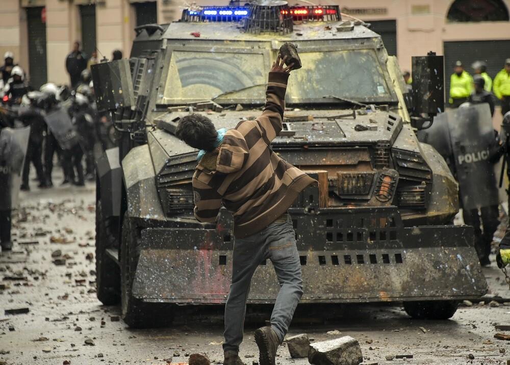 345043_Protestas en Ecuador // Foto: AFP