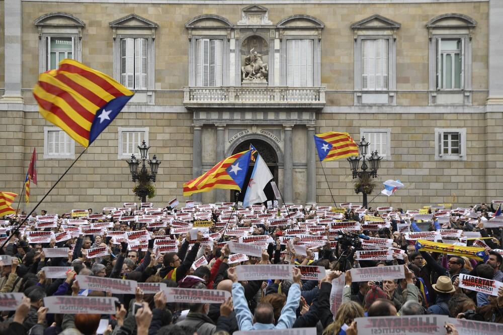 Independentistas en Cataluña