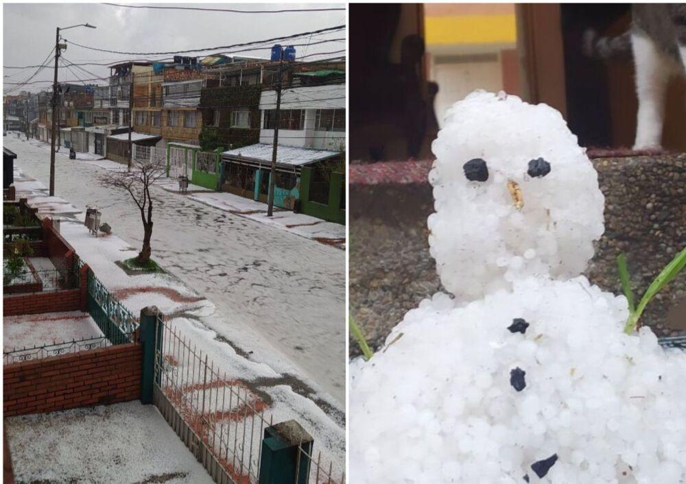 Granizada en Bogotá