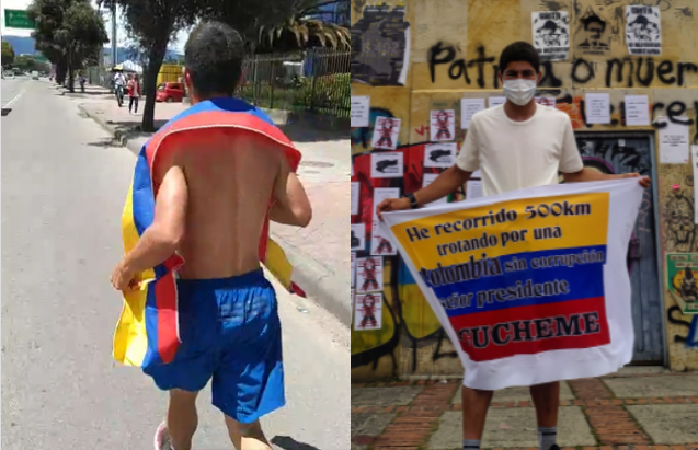 Julián recorrido Rionegro-Bogotá.