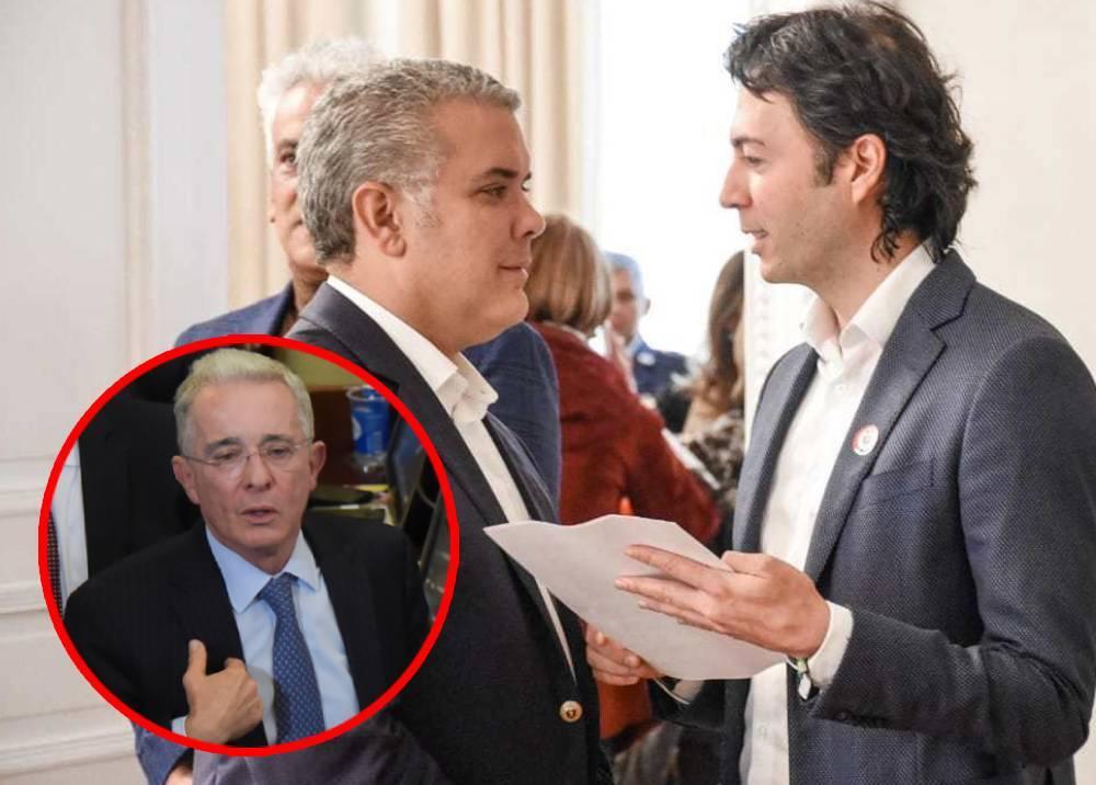 Iván Duque, Daniel Quintero y Álvaro Uribe.jpeg