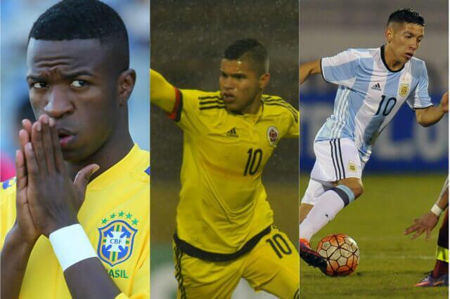 """295232_Juan Camilo """"Cucho"""" Hernández, Vinicius Junior y Ezequiel Barco"""