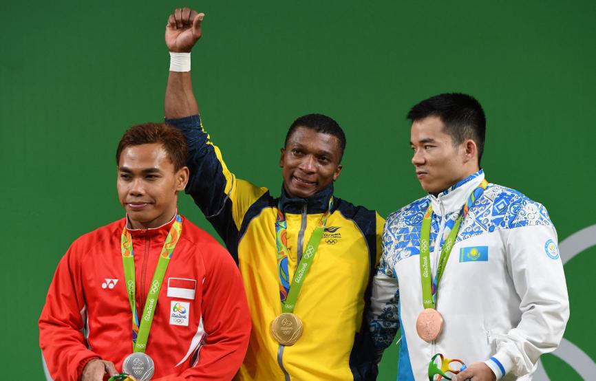 Óscar Figueroa es uno de los colombianos que ha ganado medalla de oro en los Juegos Olímpicos.