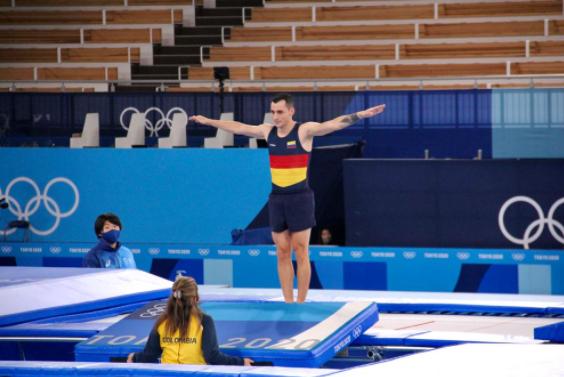 Ángel Hernández finalizó noveno en el trampolín de la gimnasia de los Juegos Olímpicos Tokio 2020.