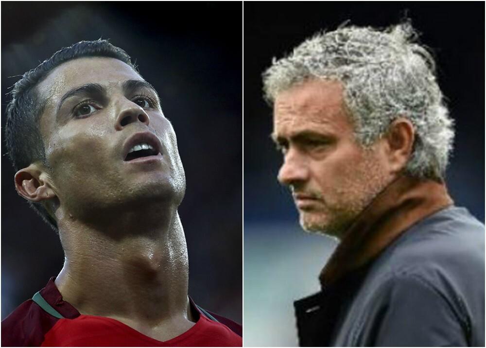 244429_Cristiano Ronaldo y José Mourinho. Foto: AFP
