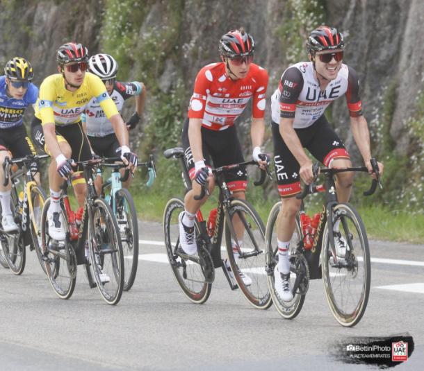 Tadej Pogacar finalizó tercero en la general de la Vuelta al País Vasco.
