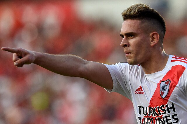 Rafael Santos Borré, máximo goleador de la 'era Gallardo' en River Plate