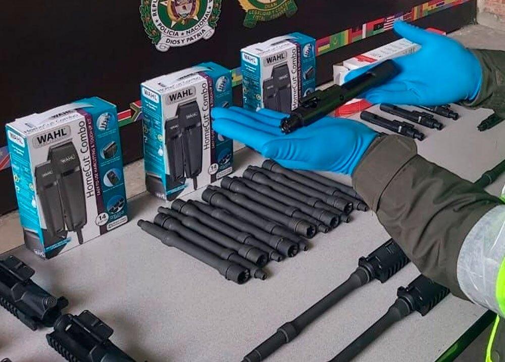 Partes de fusil que criminales intentaron ingresar vía correo por El Dorado