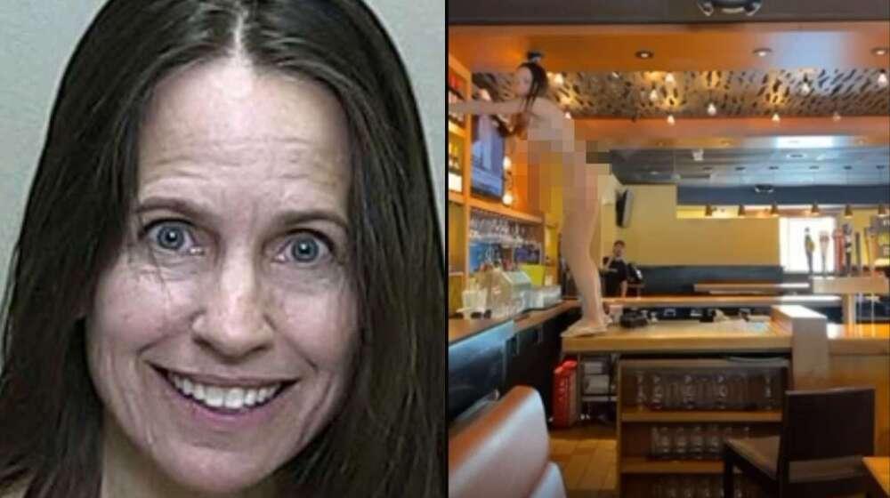 Mujer causa destrozos en un restaurante