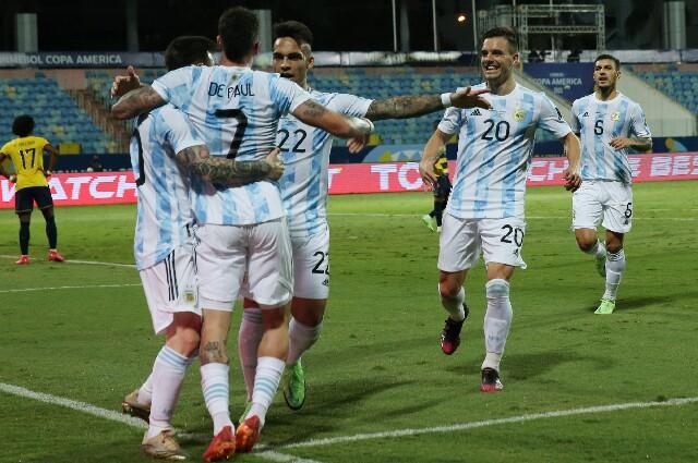 Argentina contra Ecuador, en Copa América