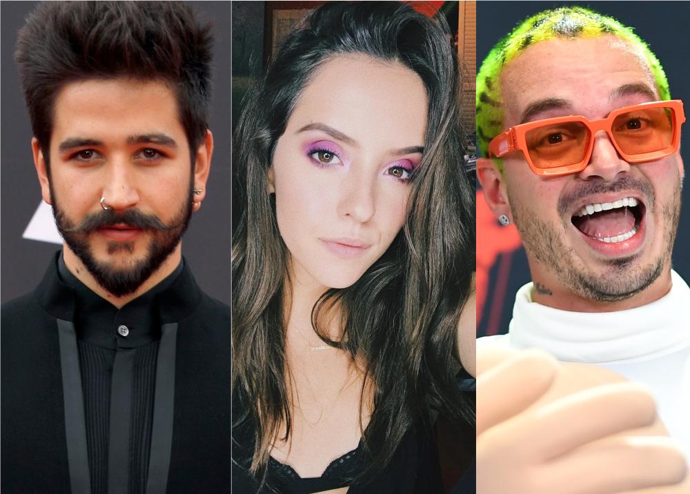352671_BLU Radio. Camilo Echeverry, Evaluna Montaner y J Balvin // Foto: AFP / Instagram: @evalunamontaner / AFP