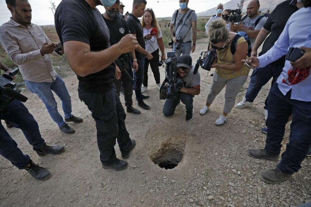 Salida del túnel por donde escaparon palestinos condenados por terrorismo