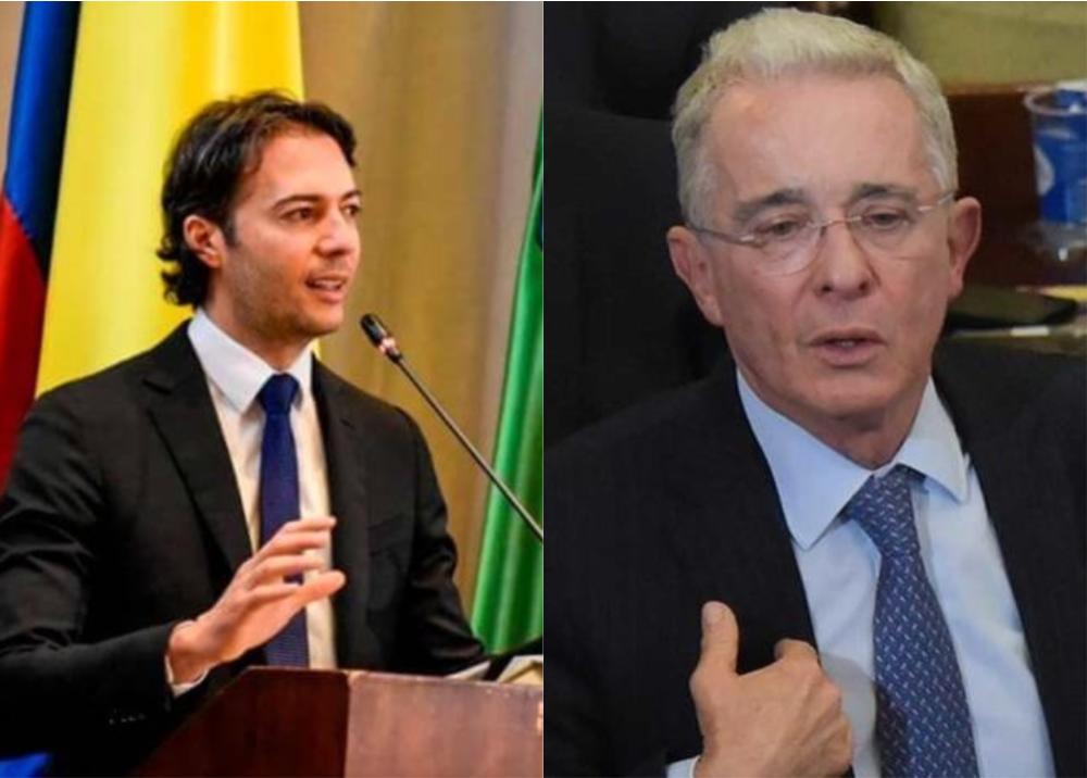 372336_Daniel Quintero y Álvaro Uribe - Fotos Twitter: @QuinteroCalle y AFP