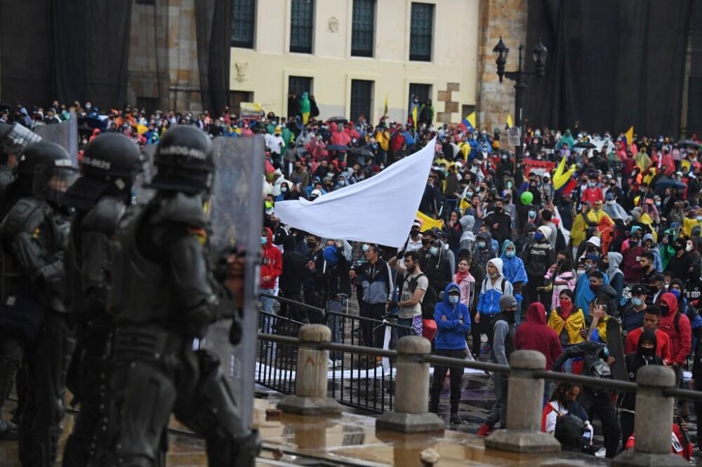 Paro nacional 28 de abril en Bogotá. Foto AFP