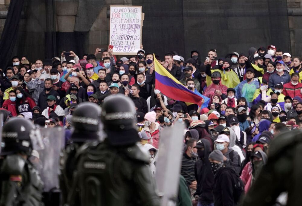 Colombians Hold Strike Against Tax Reform Bill Amid COVID Deaths Surge